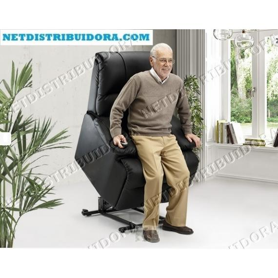 Poltrona Deluxe Massagens elevatória bege