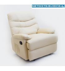 Poltrona relax c/massagem Roma Bege