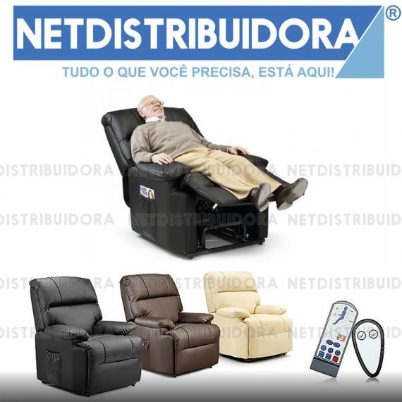 Poltrona Deluxe Massagens Elevatória preto