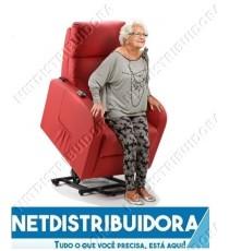Cadeirão Presidente Poltrona Elevatória  c/ aquecimento e massagens